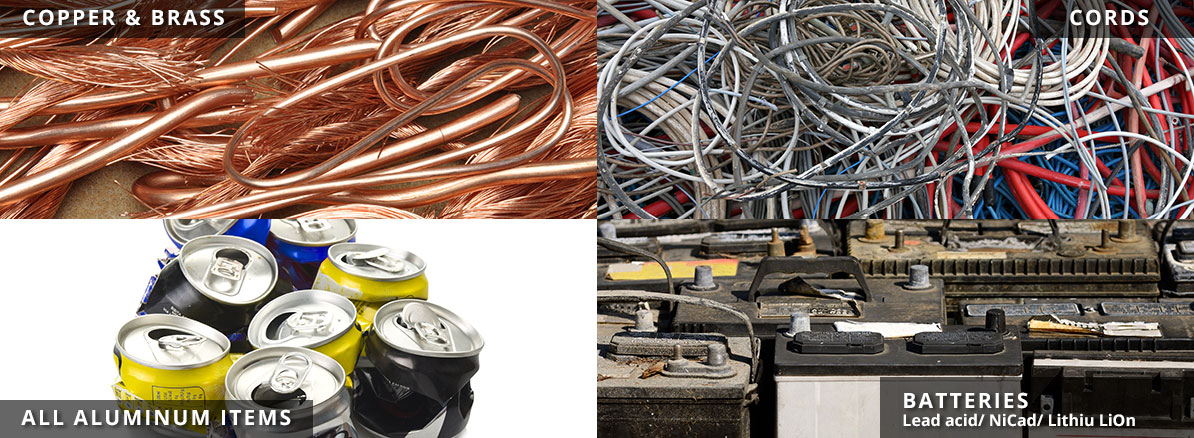 Recycling Copper, Aluminum, Cords & Batteries